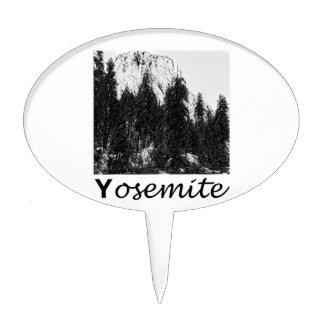Yosemite No. 1 Black and White Cake Topper