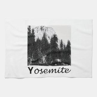 Yosemite No. 1 Black and White Towels