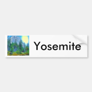 Yosemite No. 3 Mountain and Sun Bumper Sticker