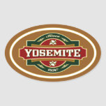 Yosemite Old Label Oval Stickers