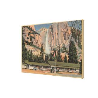Yosemite, opinión de CA de la casa de campo y de l Impresión En Lona Estirada