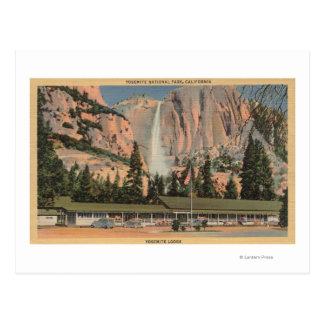 Yosemite opinión de CA de la casa de campo y de l Tarjetas Postales