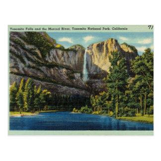 Yosemite Park Falls Postcard
