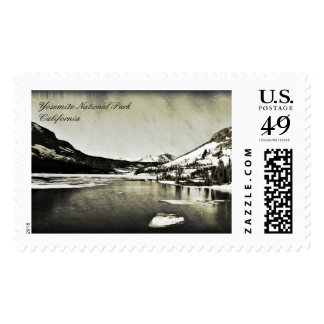 Yosemite Postage Black and White Mountain