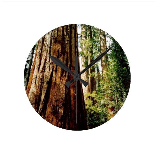 Yosemite Redwoods Round Clock
