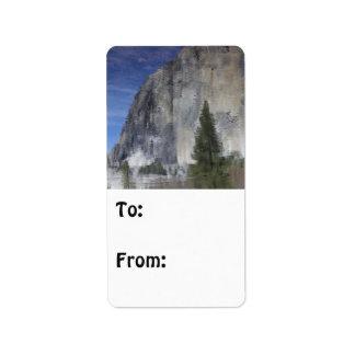 Yosemite Reflection Label