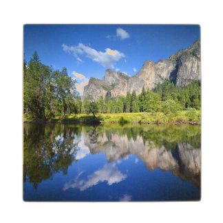 Yosemite Reflection Maple Wood Coaster