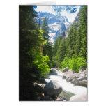yosemite river greeting card