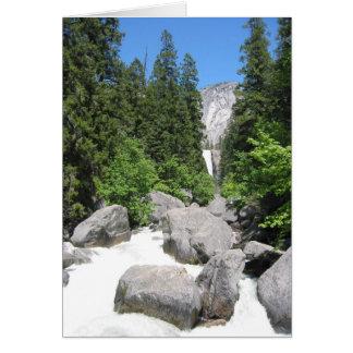 yosemite river rocks greeting card