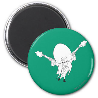 Yosemite Sam Guns Blazing Magnet
