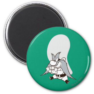 Yosemite Sam Playing Cards 2 Inch Round Magnet