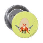 Yosemite Sam retrocede Pin Redondo 5 Cm