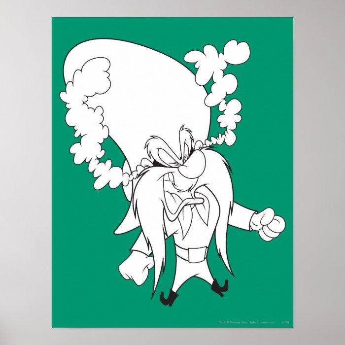 Yosemite Sam Steaming Mad Poster