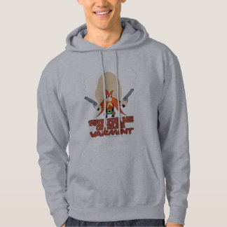 Yosemite Sam - Vote for Me or Else Varmint Hooded Pullover