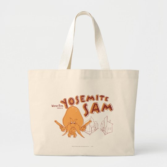 Yosemite Sam Warner Bros. Presents Large Tote Bag