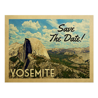 Yosemite Save The Date Vintage National Park Postcard