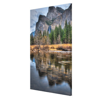 Yosemite Scenic Falls Stretched Canvas Prints