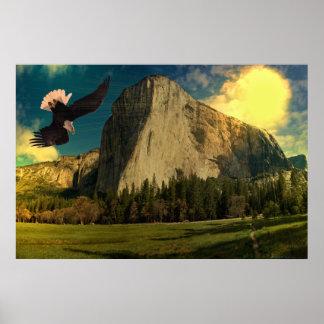 Yosemite-set-1-Sunburst Poster