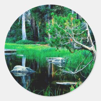 Yosemite Siesta Lake Park Classic Round Sticker