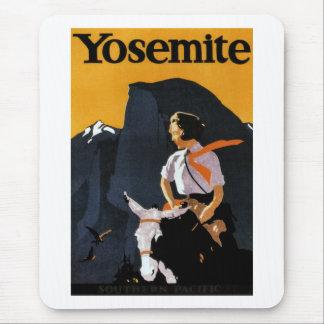 Yosemite Travel Poster Mouse Pad