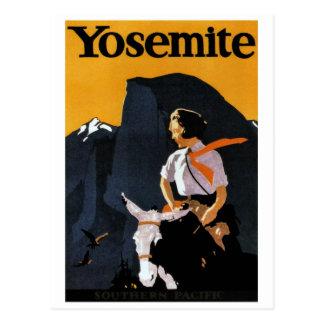 Yosemite Travel Poster Postcard
