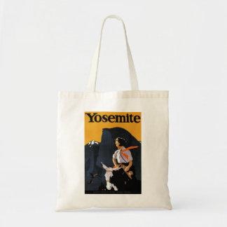 Yosemite Travel Poster Tote Bag