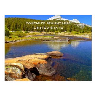 Yosemite unió viaje del turismo del vintage del tarjetas postales