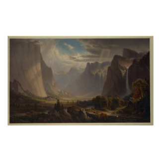Yosemite valley. After painting by Thomas Hill Poster