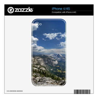 Yosemite Valley and Half Dome from Eagle Peak Decals For iPhone 4