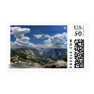 Yosemite Valley and Half Dome from Eagle Peak Postage