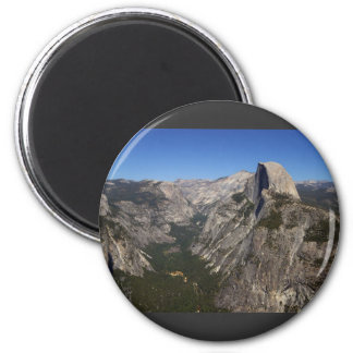 Yosemite Valley And Half Dome From Glacier Point Magnet
