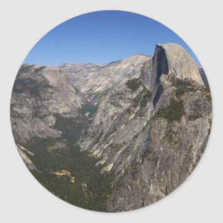 Yosemite Valley And Half Dome From Glacier Point Stickers