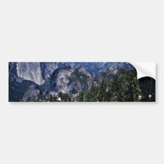 Yosemite Valley And Sierra Nevada From Dewey Point Car Bumper Sticker
