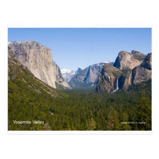 Yosemite Valley April California Products Postcard