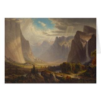 Yosemite Valley by Thomas Hill Greeting Card