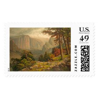 Yosemite Valley California 1887 Postage Stamp