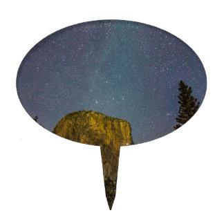 Yosemite Valley El Capitan night sky Cake Topper