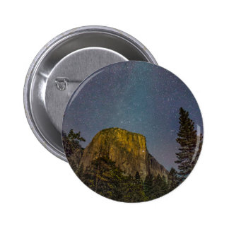 Yosemite Valley El Capitan night sky Pinback Button