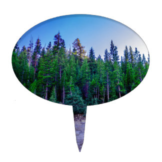 Yosemite Valley Forest & Sky Cake Topper
