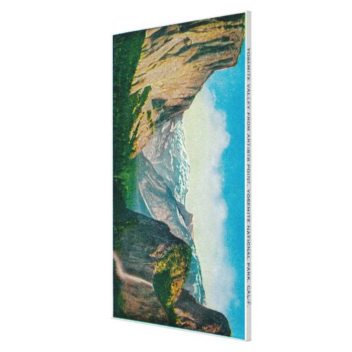 Yosemite Valley from Artist's Point Stretched Canvas Print