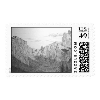 Yosemite Valley from Tunnel View Postage