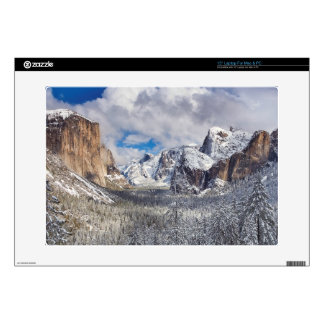 "Yosemite Valley in Snow 15"" Laptop Decal"