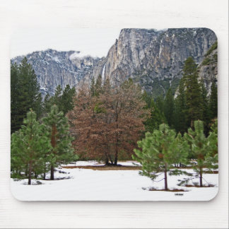 Yosemite Valley in Winter Mousepad