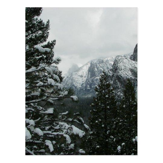 Yosemite Valley in Winter Postcard