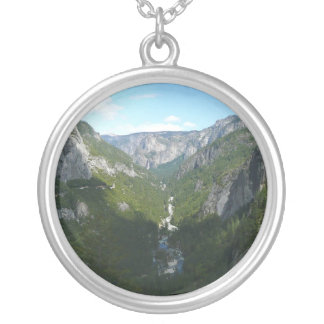 Yosemite Valley in Yosemite National Park Silver Plated Necklace