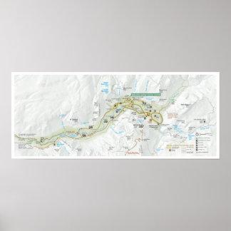 Yosemite Valley map poster