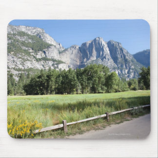 Yosemite Valley Meadow, El Capitan, Staycation Mouse Pad