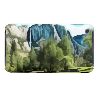 Yosemite Valley painting Barely There iPod Case