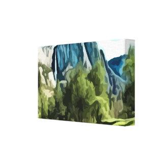 Yosemite Valley painting Canvas Print