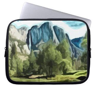 Yosemite Valley painting Computer Sleeve